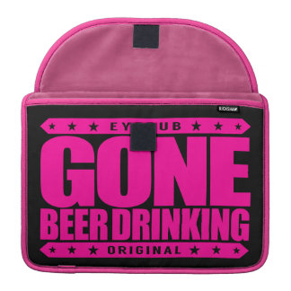 GONE BEER DRINKING - I Work Hard for My Six-Pack Sleeve For MacBooks