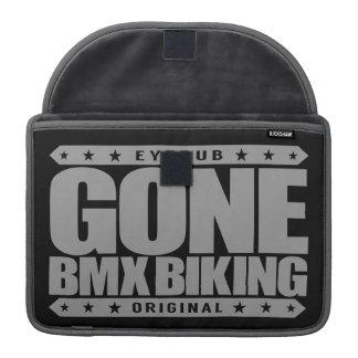 GONE BMX BIKING - I Love Bicycle Motocross Racing Sleeve For MacBook Pro