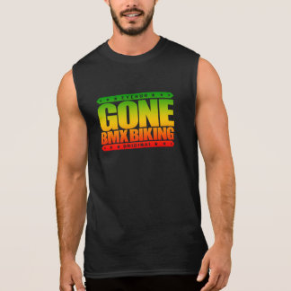 GONE BMX BIKING - I Love Bicycle Motocross Racing Sleeveless Shirt