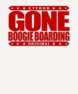GONE BOOGIE BOARDING - I Love Ocean & Bodyboarding Tee Shirt