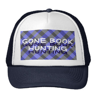 Gone Book Hunting Plaid Hat with 3D Letters