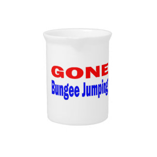 Gone Bungee Jumping. Drink Pitchers