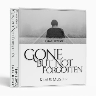 Gone but Not Forgotten - Bright 3 Ring Binder
