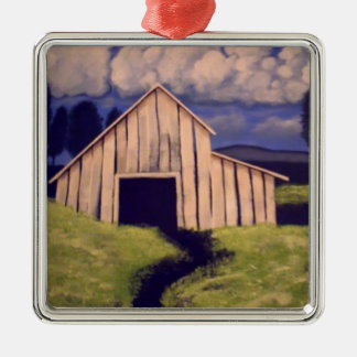 """""""Gone but not forgotten"""" by Linda Powell~Ornament Square Metal Christmas Ornament"""