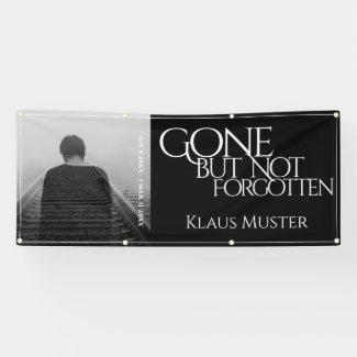 Gone but Not Forgotten - Dark Banner