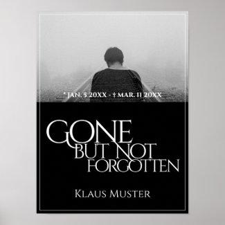Gone but Not Forgotten - Dark Poster