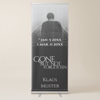 Gone but Not Forgotten - Dark Retractable Banner
