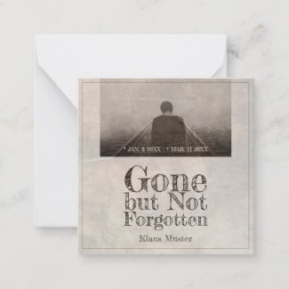 Gone but Not Forgotten - Vintage Note Card