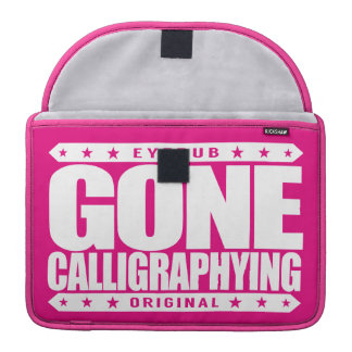 GONE CALLIGRAPHYING - A Visual Artist of Lettering Sleeves For MacBooks