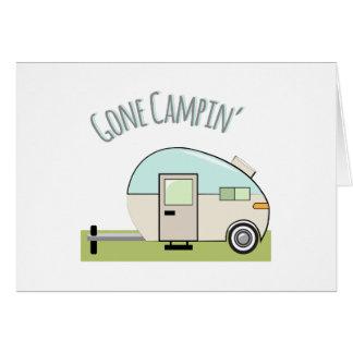 Gone Campin Greeting Card