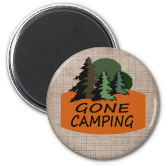 Gone Camping Camper Logo 2 Inch Round Magnet