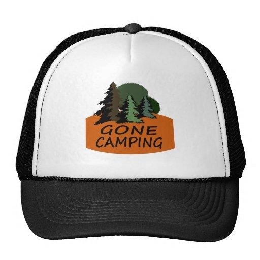 Gone Camping Camper Logo Trucker Hat