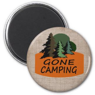 Gone Camping Camper's Logo 2 Inch Round Magnet