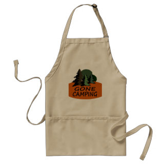 Gone Camping Happy Camper Logo Adult Apron