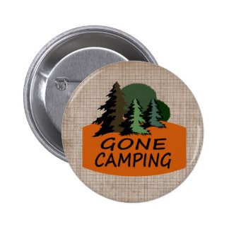 Gone Camping Outdoor Sports Button
