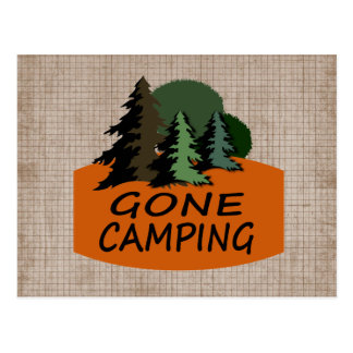 Gone Camping Postcard