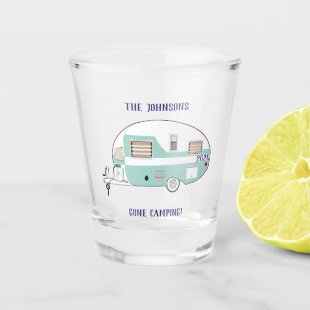 Gone Camping RV Trailer Camper Shot Glass