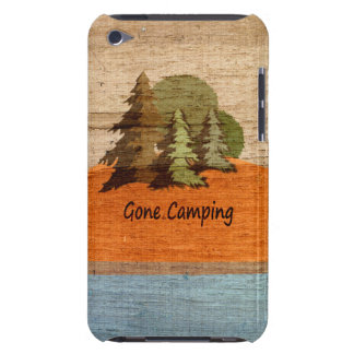 Gone Camping Wood Look Nature Lovers Barely There iPod Covers