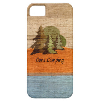 Gone Camping Wood Look Nature Lovers iPhone 5 Case