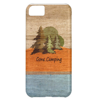 Gone Camping Wood Look Nature Lovers Cover For iPhone 5C