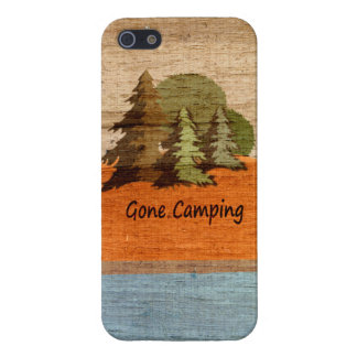 Gone Camping Wood Look Nature Lovers iPhone 5 Covers