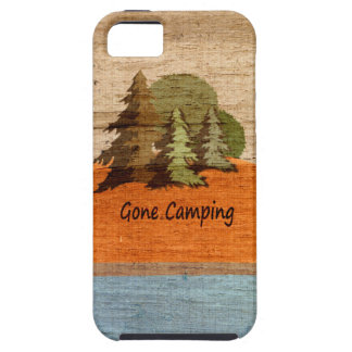 Gone Camping Wood Look Nature Lovers iPhone SE/5/5s Case