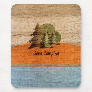 Gone Camping Wood Look Nature Lovers Mouse Pad