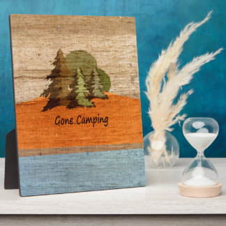 Gone Camping Wood Look Nature Lovers Plaque