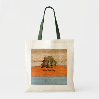 Gone Camping Wood Look Nature Lovers Tote Bag