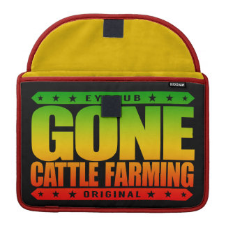 GONE CATTLE FARMING - Healthy Cows, Green Pastures Sleeve For MacBook Pro