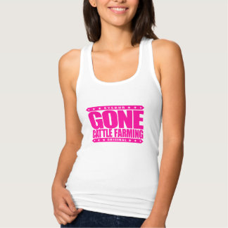 GONE CATTLE FARMING - Healthy Cows, Green Pastures Tank Top