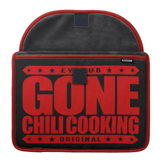 GONE CHILI COOKING - Master Chef With Slow Cooker MacBook Pro Sleeves