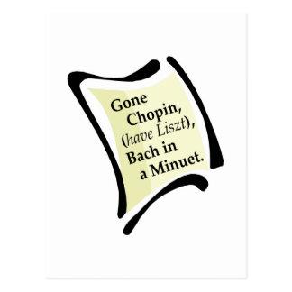Gone Chopini Postcard