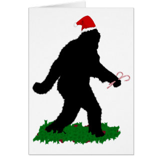 Gone Christmas , Gone Squatchin' Greeting Card