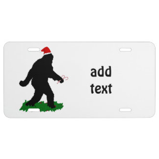Gone Christmas , Gone Squatchin' License Plate