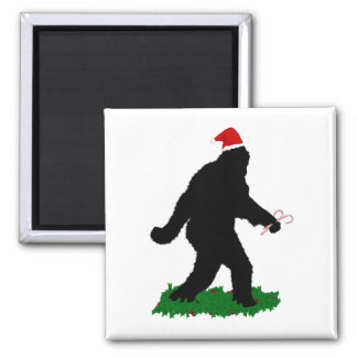 Gone Christmas , Gone Squatchin' 2 Inch Square Magnet