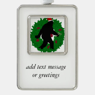 Gone Christmas Squatchin' With a Wreath Christmas Ornament