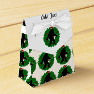 Gone Christmas Squatchin' With a Wreath Party Favor Boxes
