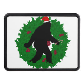 Gone Christmas Squatchin' With a Wreath Trailer Hitch Covers