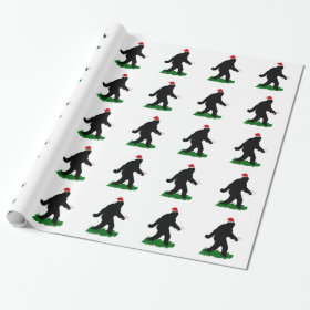 Gone Christmas Squatchin Wrapping Paper