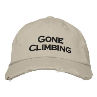 Gone climbing cool sports hat