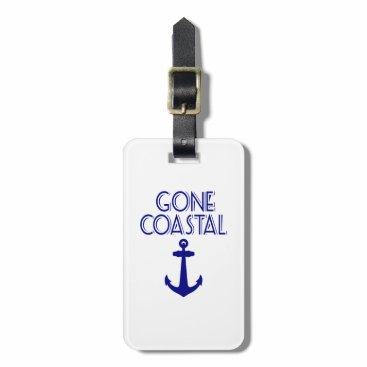 Gone Coastal Navy Blue Anchor Bag Tag