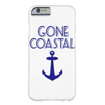 Beach Themed Gone Coastal Navy Blue Anchor Barely There iPhone 6 Case