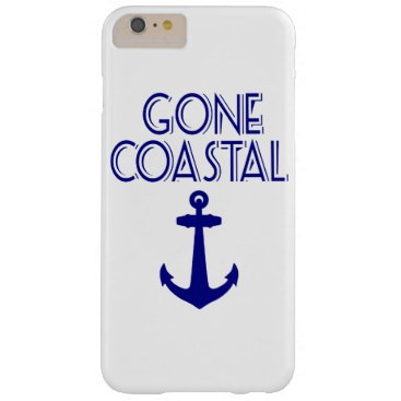 Beach Themed Gone Coastal Navy Blue Anchor Barely There iPhone 6 Plus Case