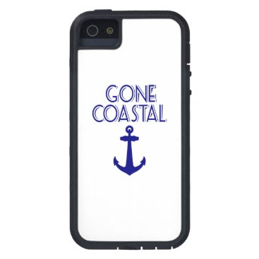 Beach Themed Gone Coastal Navy Blue Anchor Case For iPhone SE/5/5s