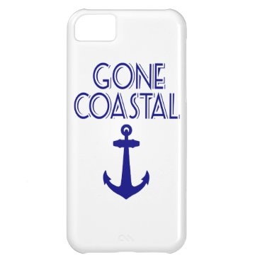 Beach Themed Gone Coastal Navy Blue Anchor Cover For iPhone 5C