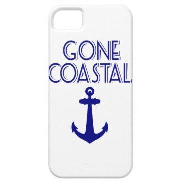 Beach Themed Gone Coastal Navy Blue Anchor iPhone SE/5/5s Case