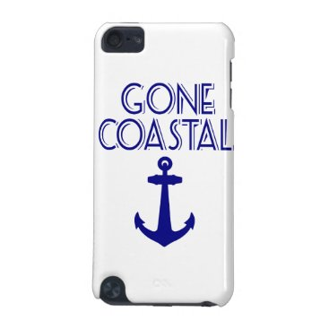 Beach Themed Gone Coastal Navy Blue Anchor iPod Touch 5G Cover