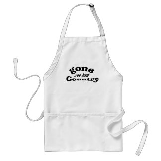 gone country adult apron