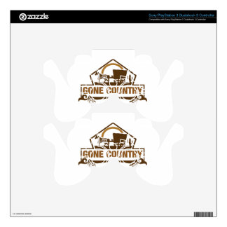 Gone Country - Country Living Decal For PS3 Controller